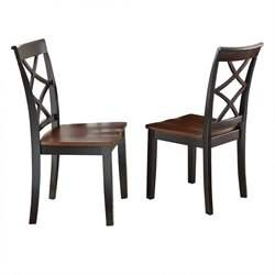 Steve Silver Rani Dining Chair in Ebony and Medium Cherry