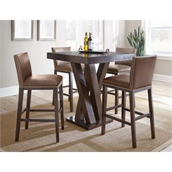 Steve Silver Tiffany Square Bar Table in Dark Espresso Cherry