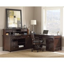 Steve Silver Teton 6 Piece Home Office Set in Merlot
