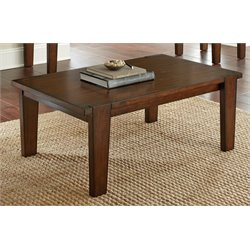 Steve Silver Vince Coffee Table in Brown Cherry