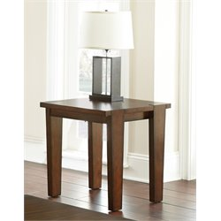Steve Silver Vince End Table in Brown Cherry