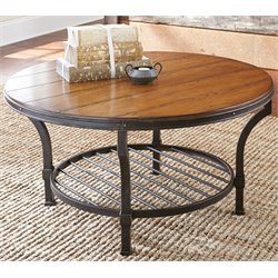 Steve Silver Veneta Round Coffee Table in Ash