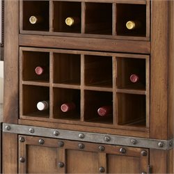 Steve Silver Wayland Removable Wine Rack in Driftwood