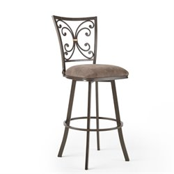 Steve Silver Company Corinne Swivel Bar/Counter Stool in Mocha