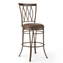 Steve Silver Company Marsol Swivel Bar/Counter Stool in Brown