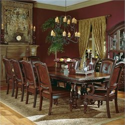 Steve Silver Company Antoniette 9 Piece Dining Set in Cherry