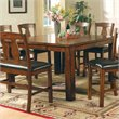 Steve Silver Company Lakewood Square/Rectangular Counter Height Dining Table in Rich Oak