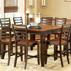 Steve Silver Company Abaco Counter Height Dining Table in Acacia