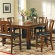 Steve Silver Company Lakewood 5 Piece Counter Height Dining Table Set in Rich Oak