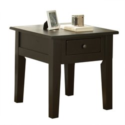 Steve Silver Liberty End Table in Antique Black