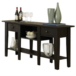 Steve Silver Liberty Console Table in Antique Black
