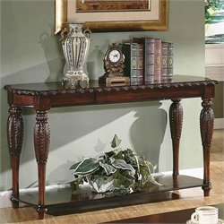 Steve Silver Company Antoinette Sofa Table in Cherry