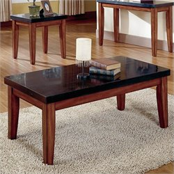 Steve Silver Company Montibello Granite Cherry Coffee Table