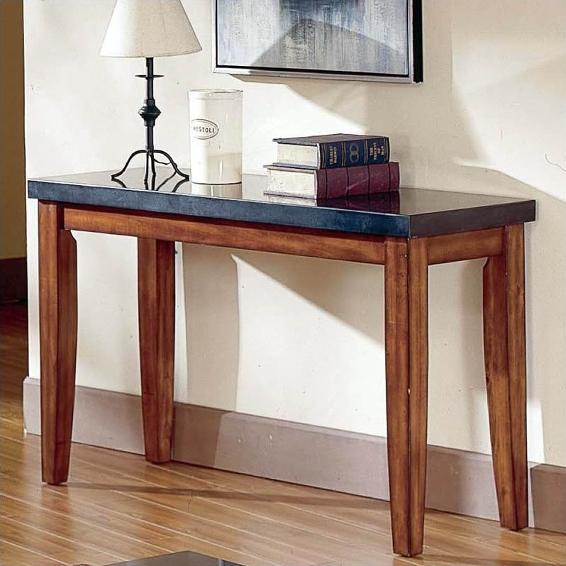 Steve Silver Company Montibello Granite Top Sofa Table