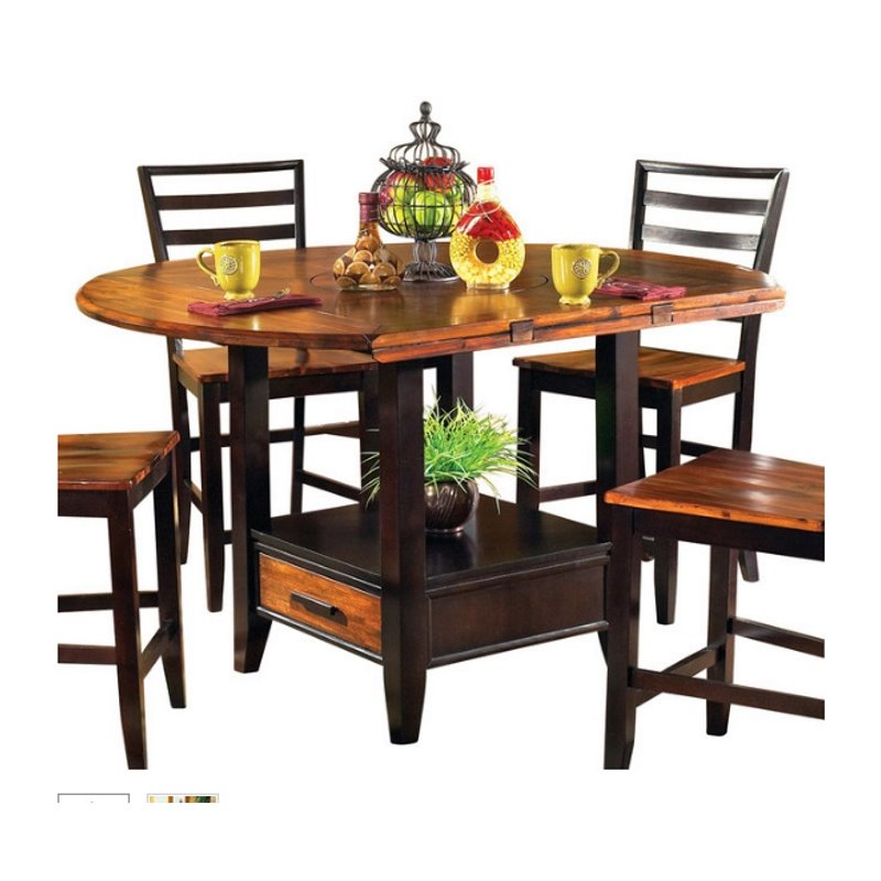 Steve Silver Abaco Drop Leaf Counter Height Dining Table  : 344886 5 L from www.cymax.com size 800 x 800 jpeg 75kB
