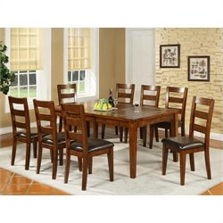 Steve Silver Company Davenport Slate Dining Table with 12 Inch Leaf