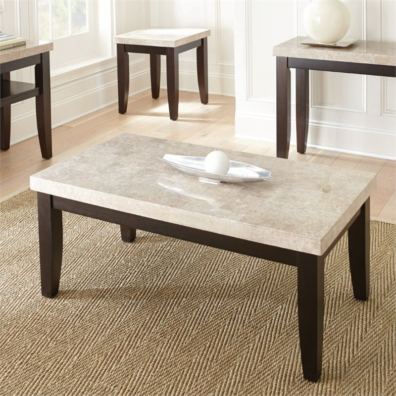 Steve Silver Monarch Coffee Table in Dark Cherry