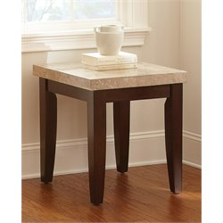 Steve Silver Monarch End Table in Dark Cherry