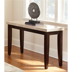 Steve Silver Monarch Console Table in Dark Cherry