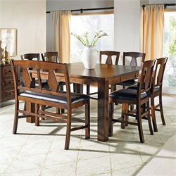 Steve Silver Company Lakewood 7 Piece Counter Height Dining Set