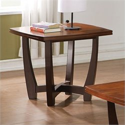 Steve Silver Company Kenzo End Table in Cherry Finish