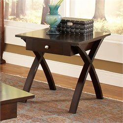 Steve Silver Company Sao Paulo End Table in Dark Cherry