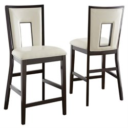 Steve Silver Company Delano Counter Height Dining Chair in Espresso
