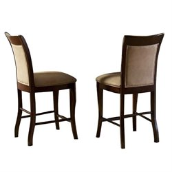 Steve Silver Company Marseille Counter Height Dining Chair in Cherry