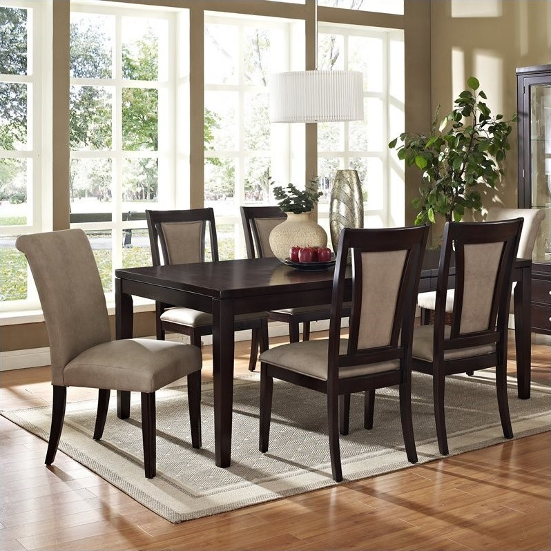 Steve Silver Company Wilson Dining Table in Merlot Cherry