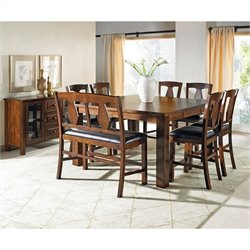Steve Silver Company Lakewood 9 Piece Counter Height Dining Set