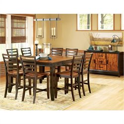 Steve Silver Company Abaco 10 Piece Counter Height Dining Set