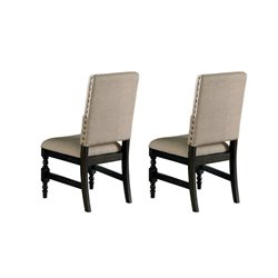 Steve Silver Company Leona Dining Chair in Dark Hand Rubbed