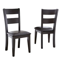 Steve Silver Company Victoria Dining Chair in Dark Brown