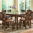 Steve Silver Company Montreal Counter Height Dining Table with Leaf