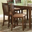 Steve Silver Montreal Counter Dining Chair in Dark Oak