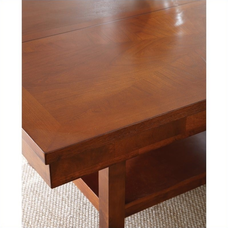 Steve Silver Company Eden Modern Dining Table with Leaf in Cherry
