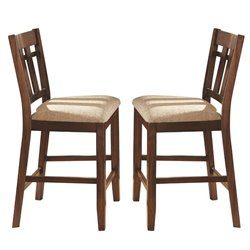 Steve Silver Bolton Counter Dining Chair in Dark Oak