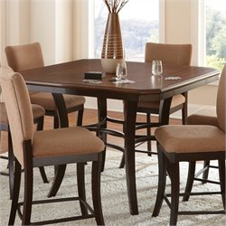 Steve Silver Company Derrick Counter Height Dining Table in Dark Oak