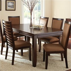 Steve Silver Company Cornell Rectangular Dining Table in Espresso