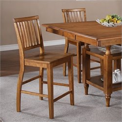 Steve Silver Company Candice Counter Height Dining Chair in Oak