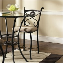 Steve Silver Brookfield Counter Dining Chair in Dark Metal