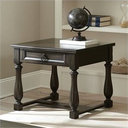 Steve Silver Company Leona End Table in Dark Hand Rubbed Finish