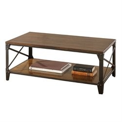 Steve Silver Company Winston Cocktail Table in Distressed Tobacco