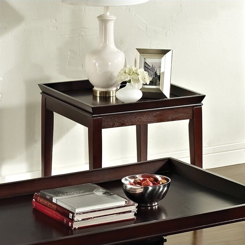 Steve Silver Company Clemson End Table in Multi-Step Cherry