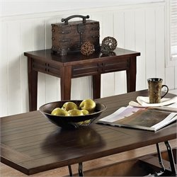 Steve Silver Company Crestline End Table in Distressed Walnut