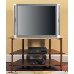Steve Silver Company Tivoli Faux Marble Top TV Stand in Multi-Step Cherry