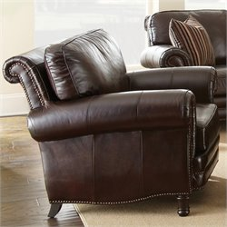 Steve Silver Company Chateau Leather Club Chair in Brown