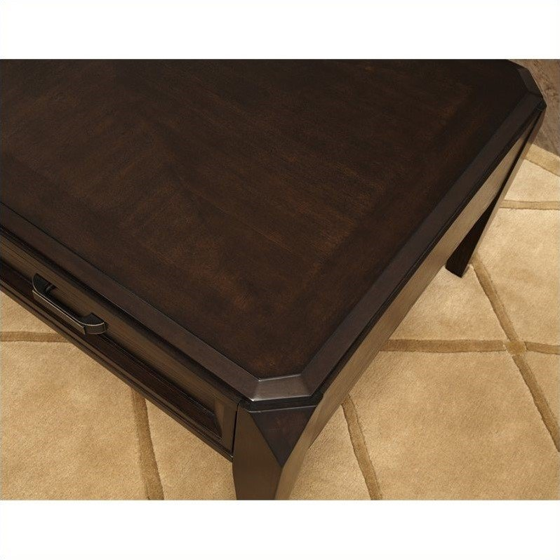 Steve Silver Company Wellington 3 Piece Coffee Table Set in Dark Cherry