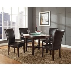Steve Silver Hartford Round Dining Table in Dark Oak