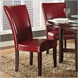 Steve Silver Company Hartford Parsons Chair in Red